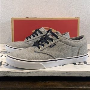 Vans Atwood Plaid Grey Men's 10